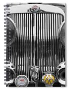 Triumph Roadster Front End Selective Color Spiral Notebook