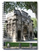 Triumphal Arch - Orange Provence Spiral Notebook
