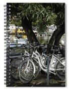 Trois Bikes Spiral Notebook