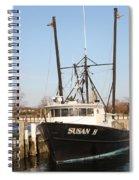 Troller At Dock Spiral Notebook