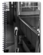 Trolley 28 Leaver Black And White Spiral Notebook
