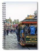 Trolley Car Main Street Disneyland 01 Spiral Notebook