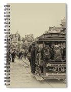Trolley Car Main Street Disneyland Heirloom Spiral Notebook
