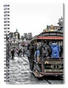 Trolley Car Main Street Disneyland Sc Spiral Notebook