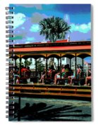 Trolley Stop Spiral Notebook