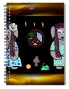 Trolls In Hippie Wood Spiral Notebook