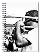 Trombone Man Bw Spiral Notebook