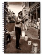 Trombone Man On Royal St. New Orleans Spiral Notebook