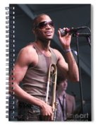 Musician Trombone Shorty Spiral Notebook