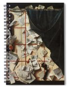 Trompe L Oeil With Letters Spiral Notebook