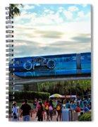 Tron Monorail At Walt Disney World Spiral Notebook