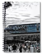 Tron Monorail Wdw In Sc Spiral Notebook
