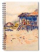 Tropical  Beach Hut Spiral Notebook