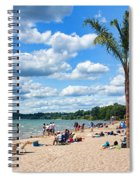 Tropical Beach In Port Dover Spiral Notebook