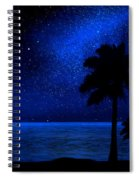 Tropical Beach Wall Mural Spiral Notebook
