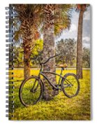 Tropical Bicycle Spiral Notebook
