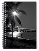 Tropical Bridge In Black And White Spiral Notebook