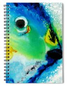Tropical Fish 2 - Abstract Art By Sharon Cummings Spiral Notebook
