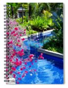 Tropical Garden Around Pool Spiral Notebook