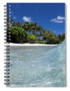 Tropical Glass Spiral Notebook