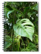 Tropical Green Foliage Spiral Notebook
