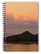 Tropical Island At Sunset Spiral Notebook