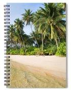 Tropical Island Beach Scenery Spiral Notebook