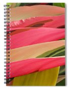Tropical Leaves Abstract 3 Spiral Notebook