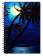 Tropical Moon On The Islands Spiral Notebook