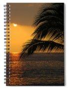 Tropical Ocean Sunset Spiral Notebook