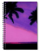 Tropical Pink Sunset Spiral Notebook