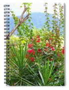 Tropical Red Against Cool Mountain Mists Spiral Notebook