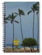 Tropical Storm Flossie Kapukaulua Beach Paia Maui Hawaii 2013 Spiral Notebook