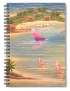 Tropical Windy Island Paradise Spiral Notebook