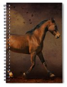 Trotting Into The Night Spiral Notebook