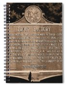 Troup Factory Historical Marker Spiral Notebook