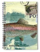 Trout Fishing In America Postcard Spiral Notebook