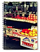 Vintage Outdoor Fruit And Vegetable Stand - Markets Of New York City Spiral Notebook