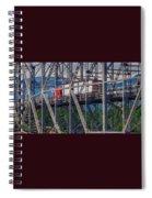 Truck On Bridge Of Gods Spiral Notebook