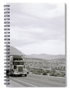 Trucking Across America Spiral Notebook