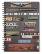 Trucks That Built America Spiral Notebook