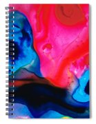 True Colors - Vibrant Pink And Blue Painting Art Spiral Notebook