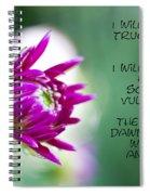 True Face - Poem - Flower Spiral Notebook