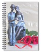 True Love In Silver Spiral Notebook