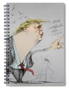Trump In A Mission....much Ado About Nothing. Spiral Notebook