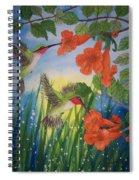 Trumpet Vine Fantasy Spiral Notebook