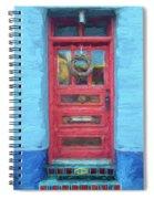 Tucson Barrio Red Door Painterly Effect Spiral Notebook