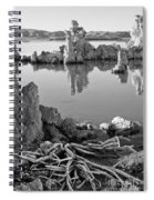 Tufa In Black And White Spiral Notebook