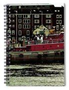 Tug At Dock Spiral Notebook