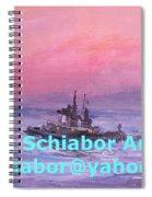 Tug At Sunrise Spiral Notebook